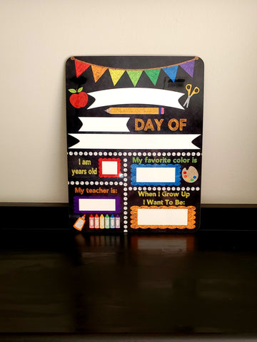 Back To School Dry Erase Board
