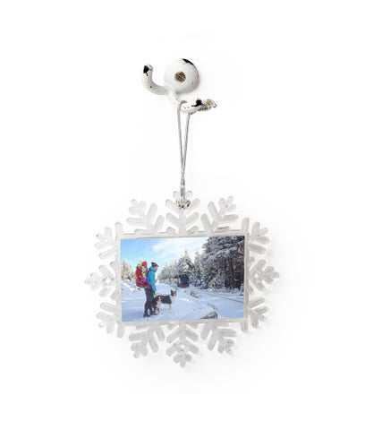 Large Personalized Photo Snowflake Ornament