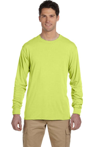 Personalized Long Sleeve Solar High Viz. Safety Green
