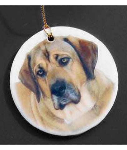 Personalized Ceramic Circle Ornament
