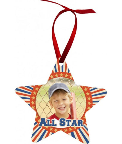 Personalized Aluminum Star Ornament