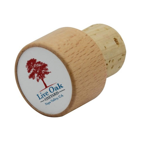 "Wooden 1.1"" Round Wine Bottle Stopper Party Favor"