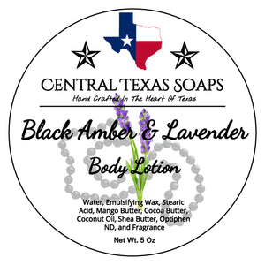 Black Amber and Lavender Body Lotion