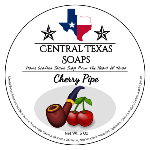 Cherry Pipe Shave Soap
