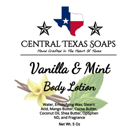Vanilla Mint Body Lotion