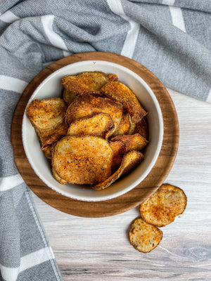 Air Fried Savory Spicy Potato Chips