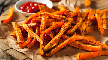 Cry Fries - Baked Spicy Barbecue Sweet Potato Fries