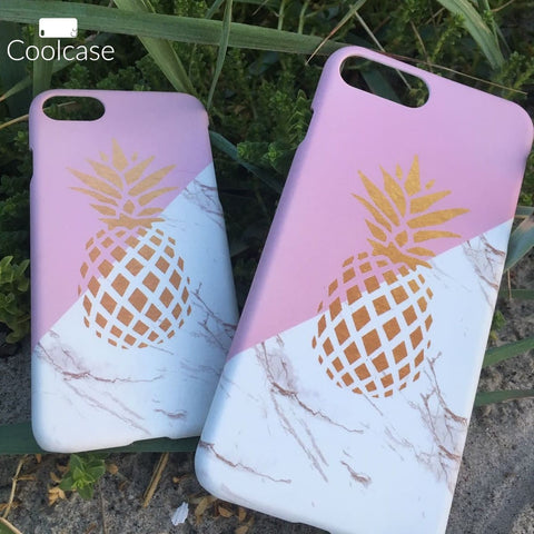 Marble Pineapple Case