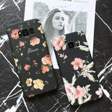 Black Flower Case