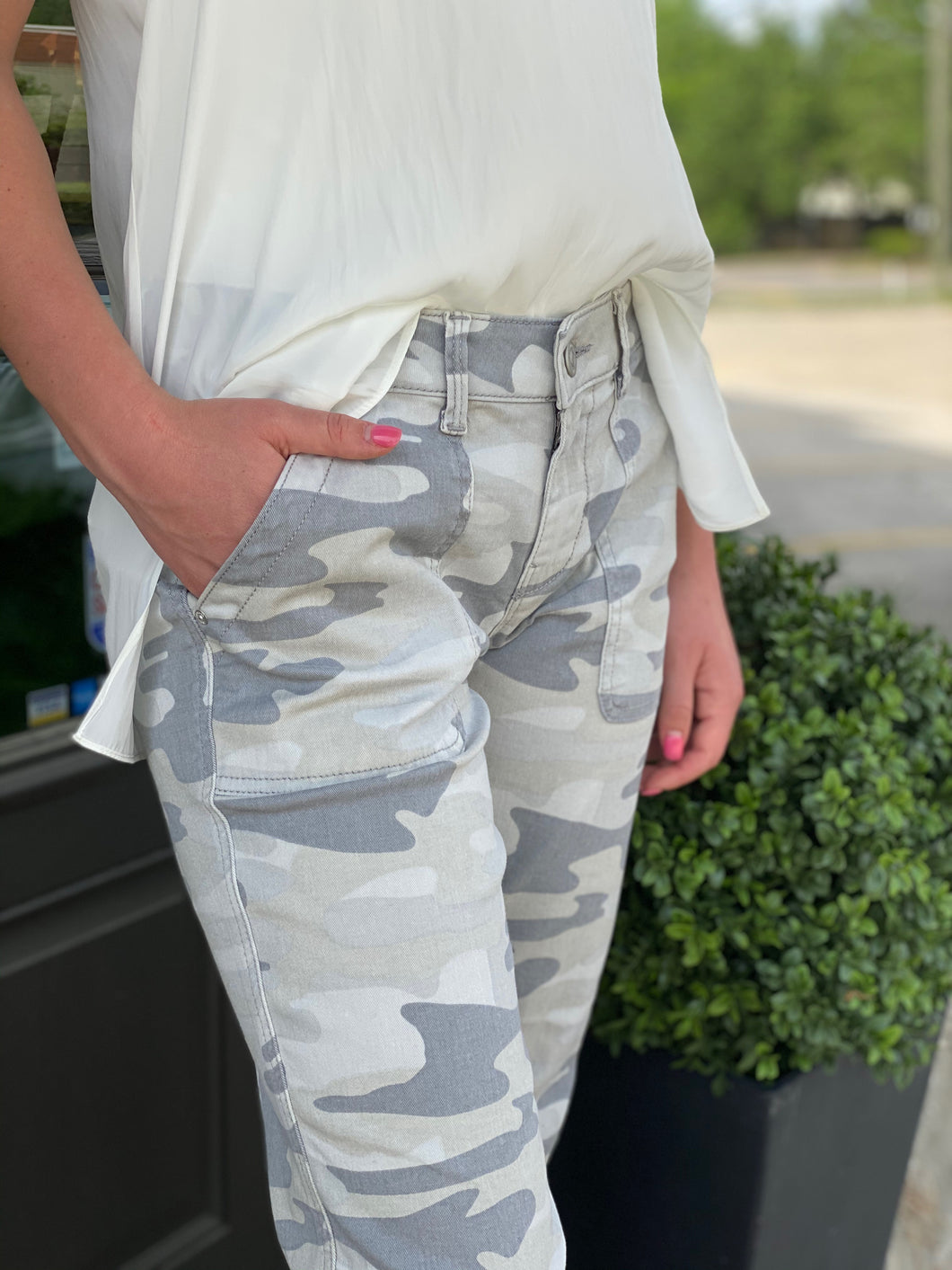 Camo Pant with Jogger Detail