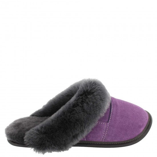 Ladies Cuffed Slip-On Slippers - Mule head by Garneau Slippers