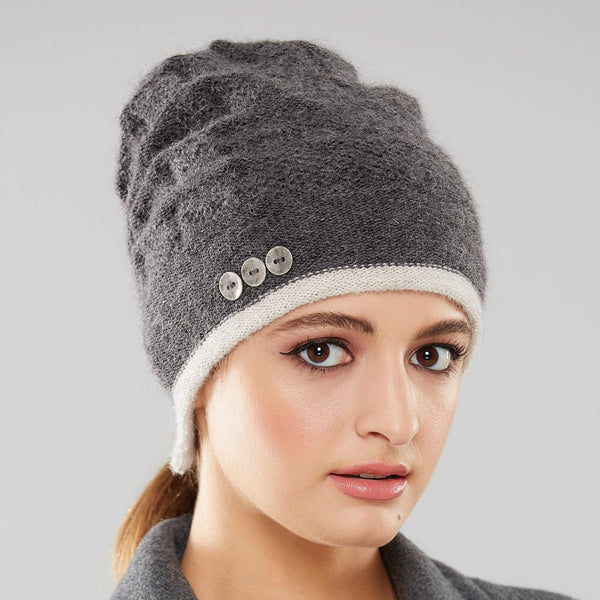 Rosseau Stripe pony-tail toque by Olena Zylak