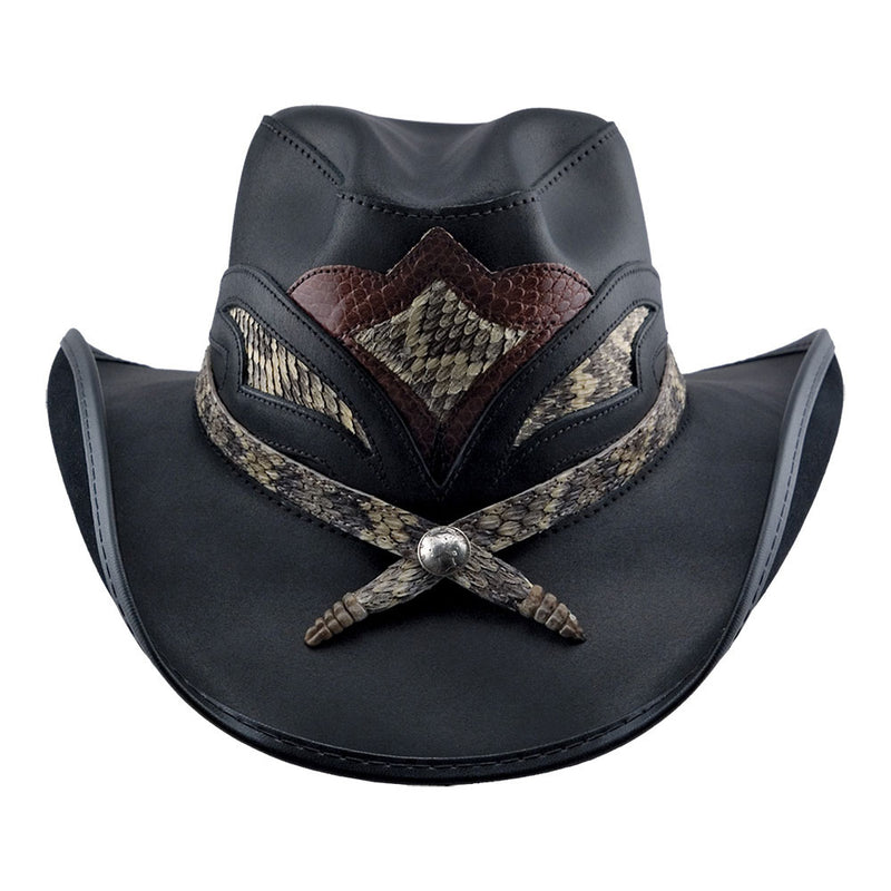 Storm Cowboy Hat with Rattlesnake band