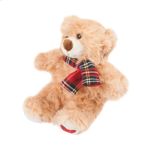 Plush Bear with tartan Scarf