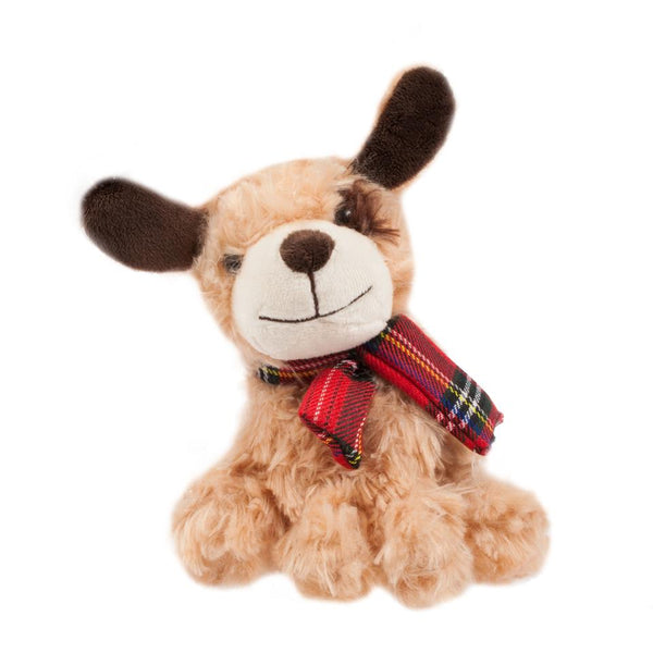 Plush Dog with tartan Scarf