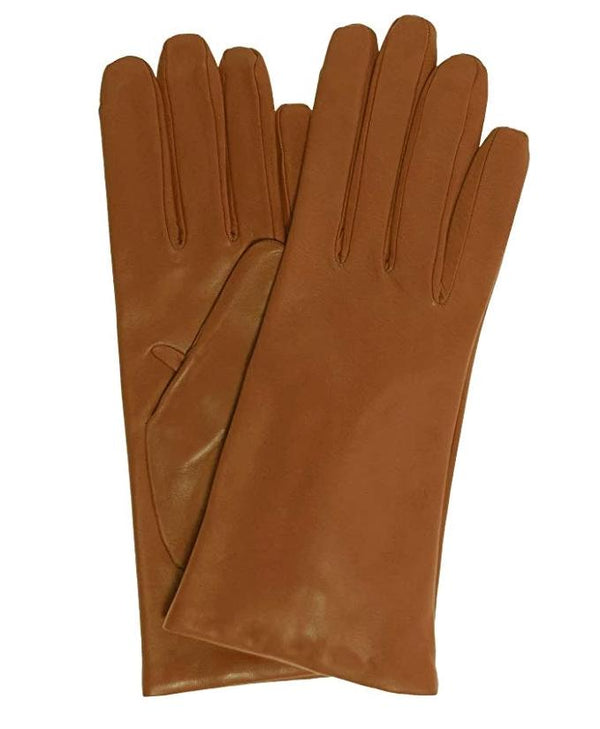 Hickory Italian leather gloves tan by Antonio Murolo