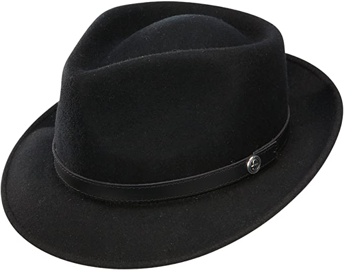 The Prof Stingy Brim Crushable wool trilby by Stetson