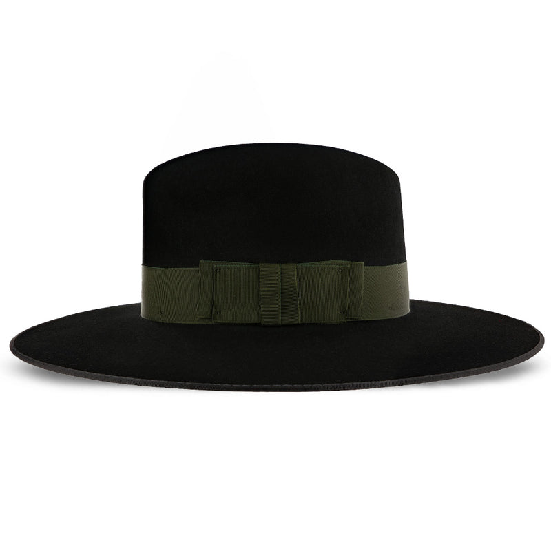 Tri-City Deluxe fur felt wide-brim fedora by Stetson