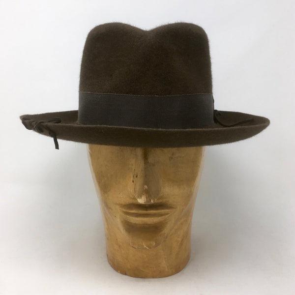 Nigel Fedora in Chestnut Brown Beaver Felt by Lilliput Hats