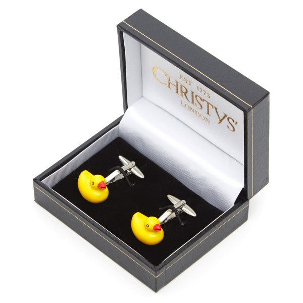 Rubber Duck Cufflinks by Christys' of London