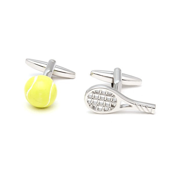 Tennis Racket and ball Cufflinks by Christys' of London