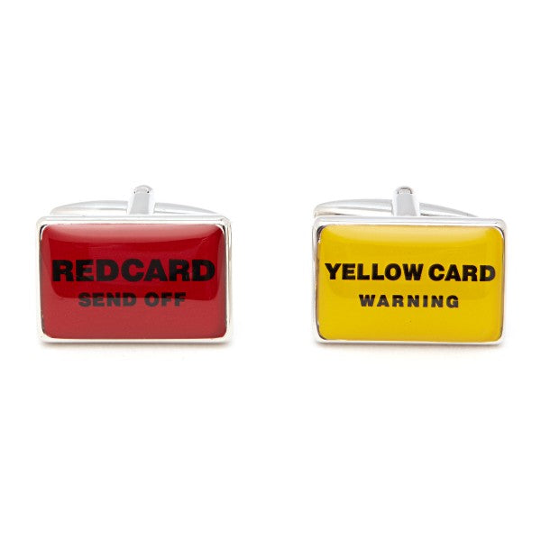 Red Card/ Yellow Card Cufflinks by Christys' of London