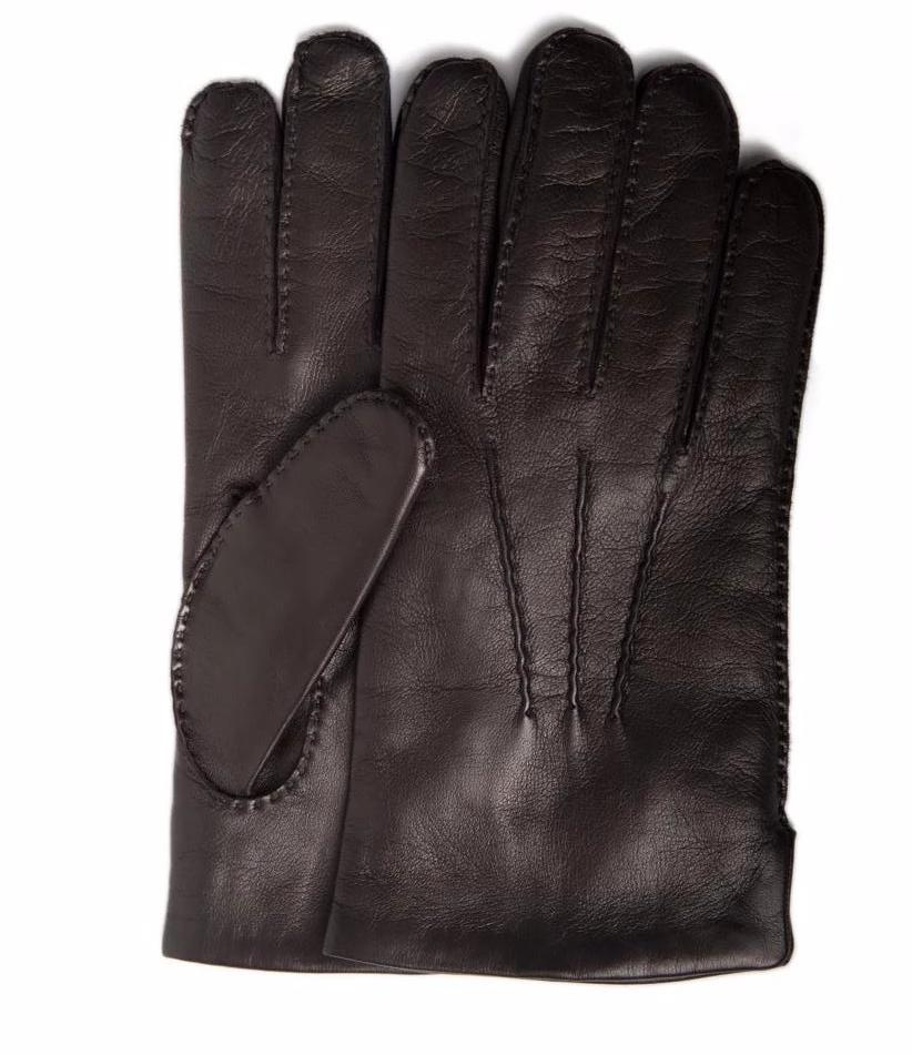 Men's Italian leather gloves with cashmere lining by Antonio Murolo