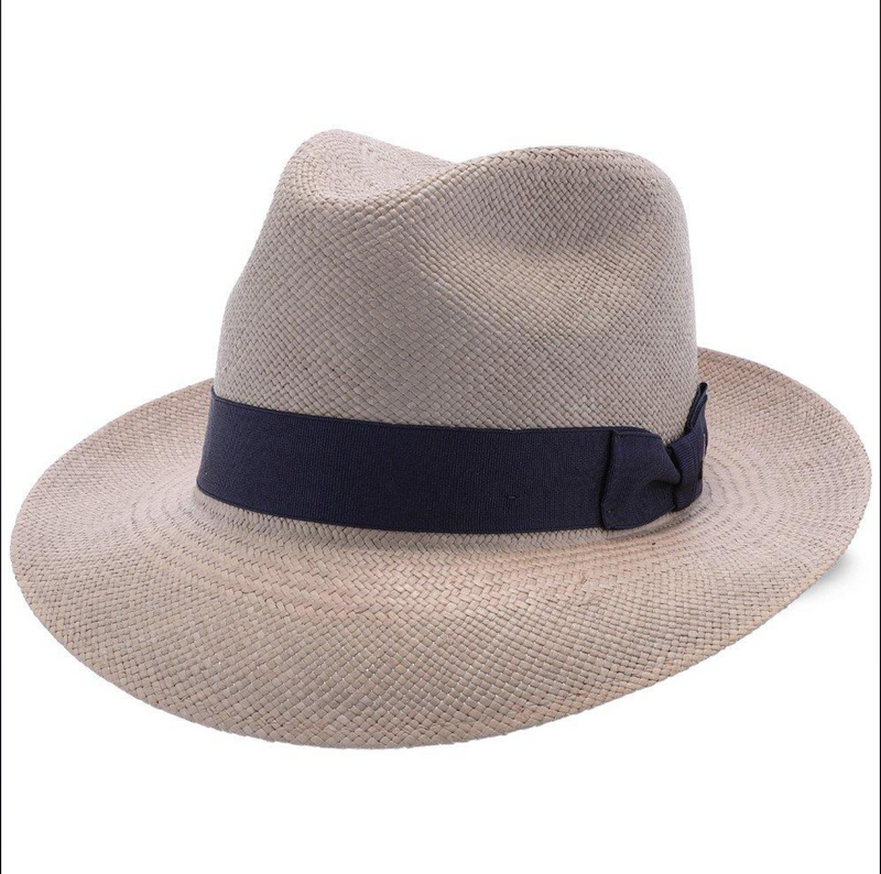"Stetson ""The Moor"" Panama Straw fedora - Grey"