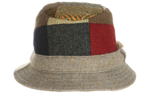 "Wool Patchwork ""Dave"" Bucket Hat by Hanna Hats (831/871)"