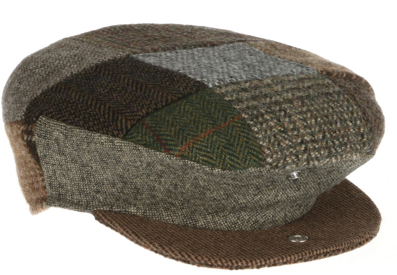 Wool Patchwork Flat Cap by Hanna Hats (DTC1)