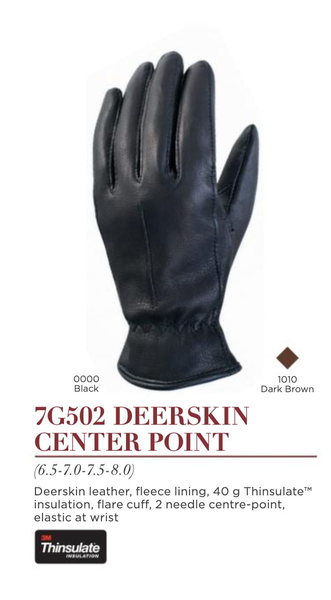 Deerskin Center Point Ladies Glove by Auclair 7G502