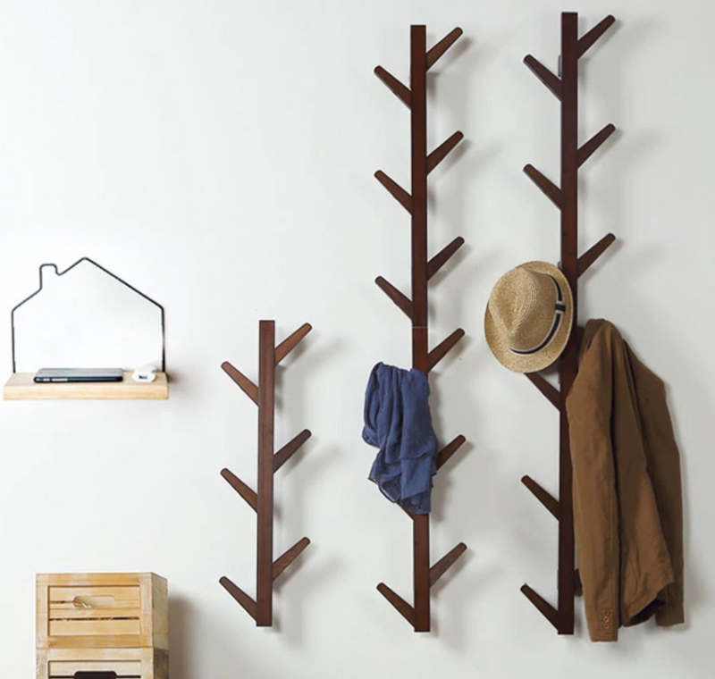 Wall mounted Bamboo hat rack