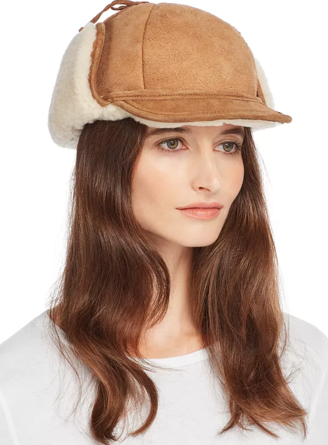 2-86340 The Drake - a Lady Fudd in suede and shearling by Crown Cap