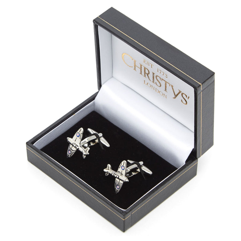 Spitfire Airplane Cufflinks by Christys' of London