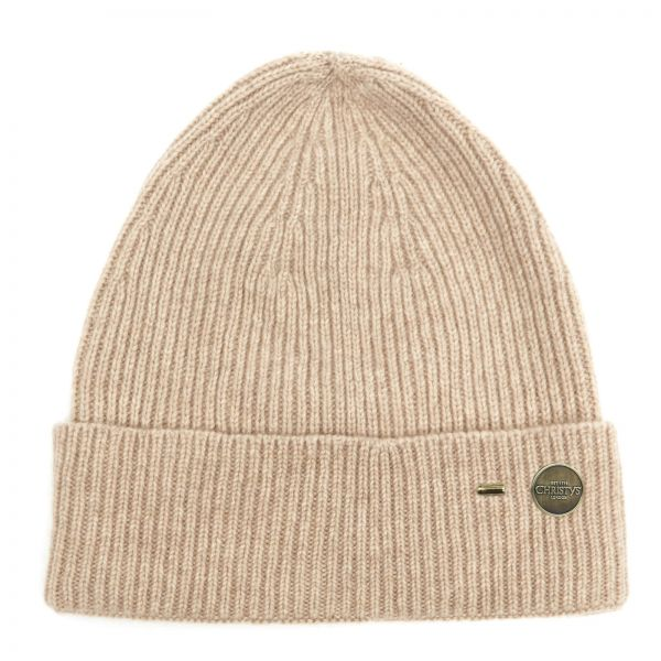 Cashmere Ribbed Beanie by Christys'