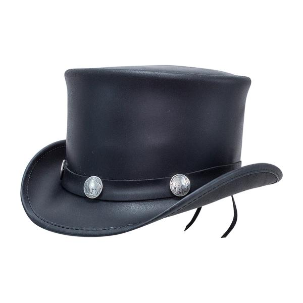 El Dorado leather top hat by American Hat Makers