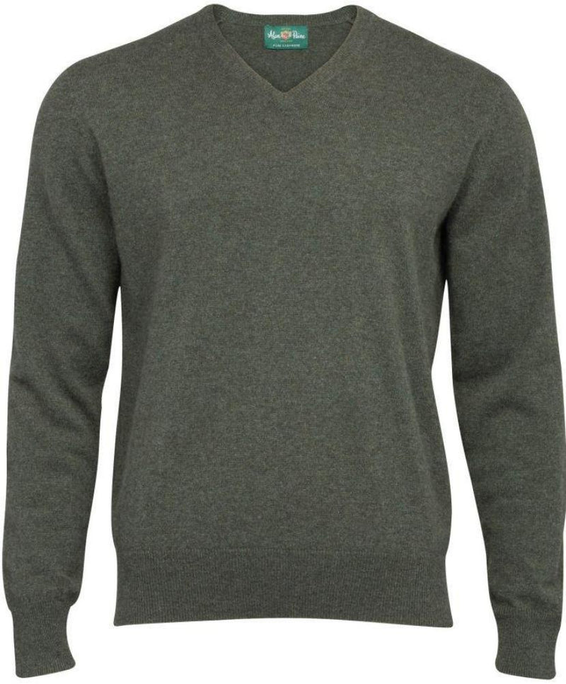 Alan Paine Cashmere V-Neck Sweater
