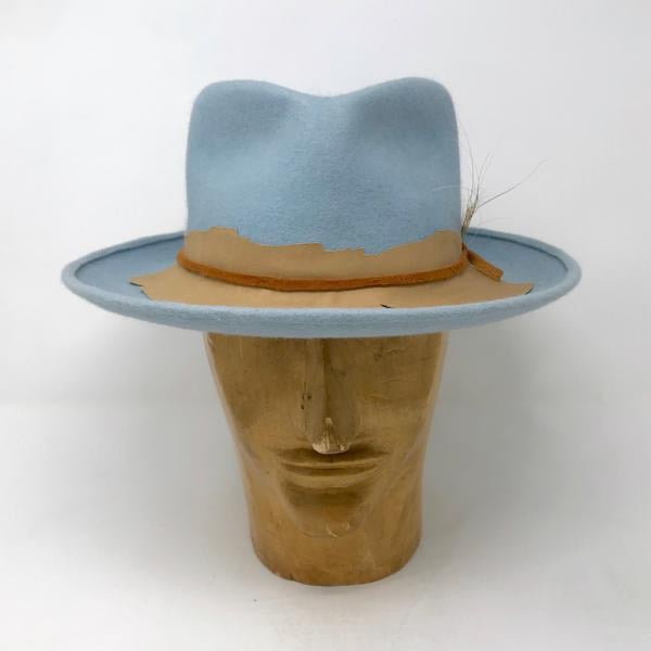 Gord Fedora - Baby Blue Beaver or Silverbelly Felt by Lilliput Hats
