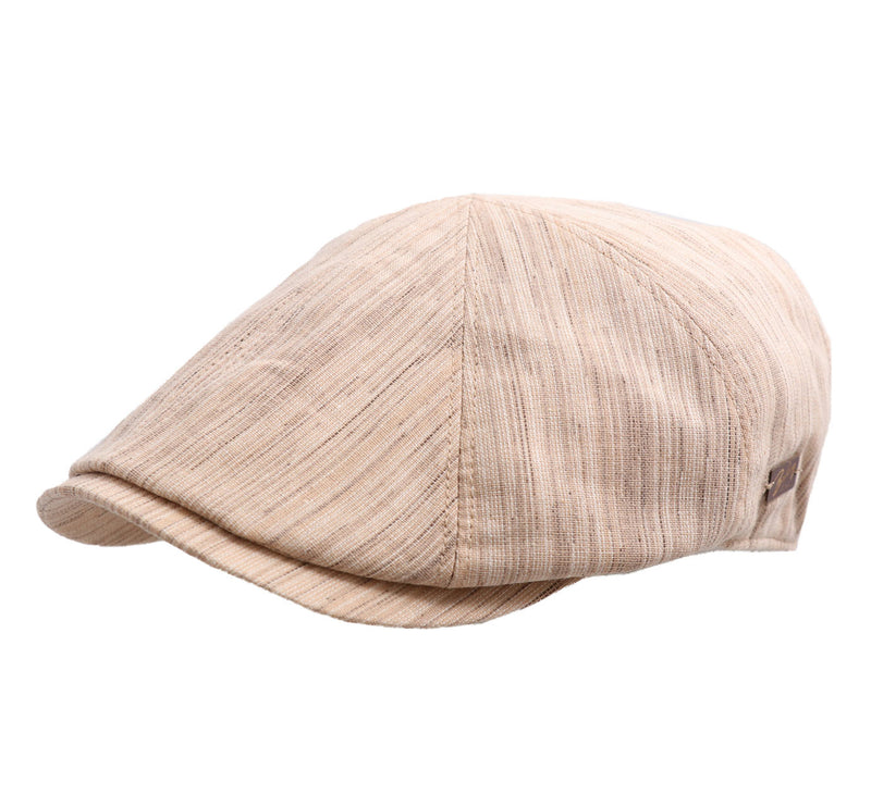 Robinson Linen flat cap by Bailey