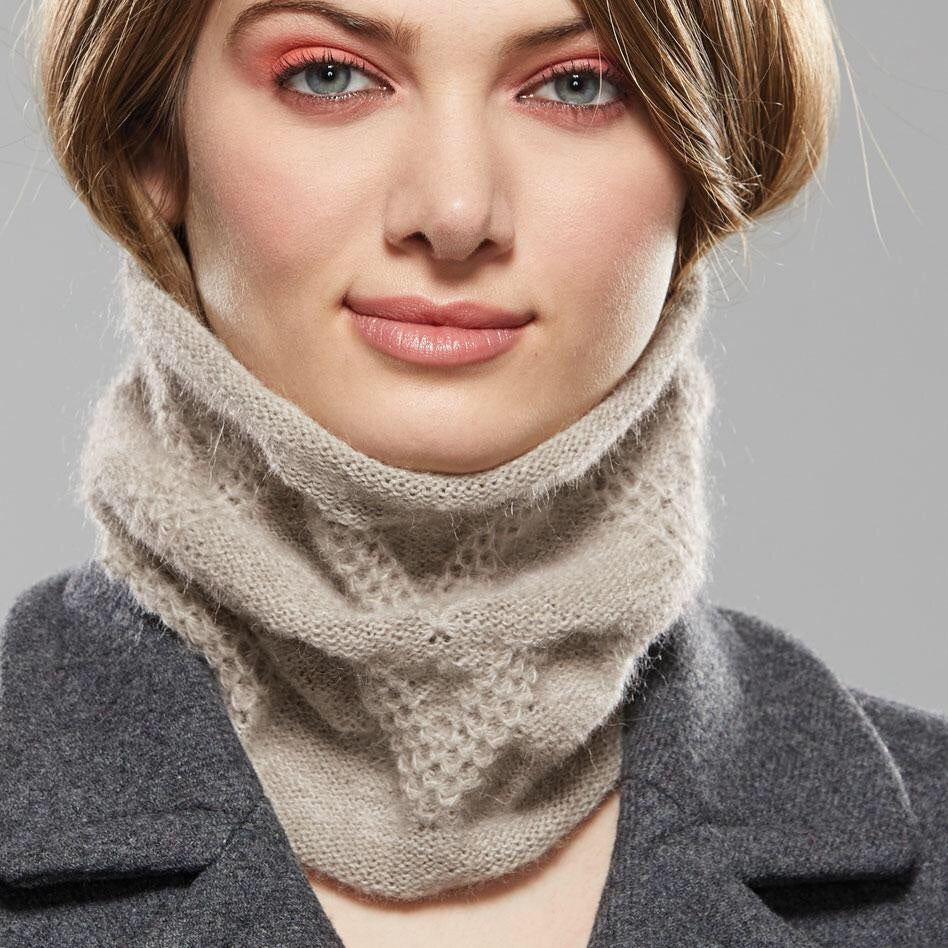 Chevron Collar Scarf by Olena Zylak