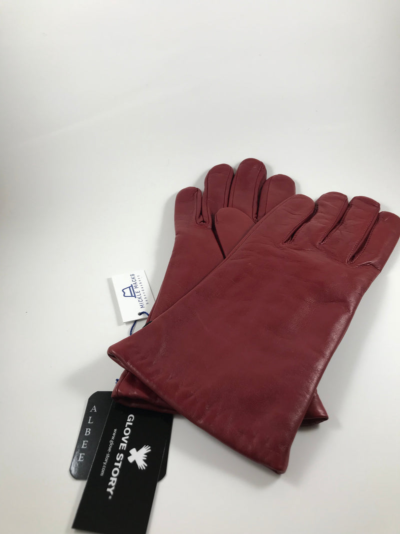Wool lined ladies leather gloves