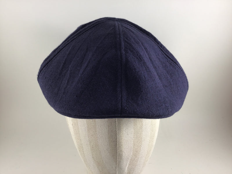 Brentford Linen Flat Cap by Göttmann -Colour Navy 55 (22-487)