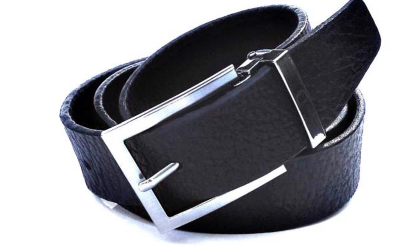 Black Vegetable-dyed leather belt