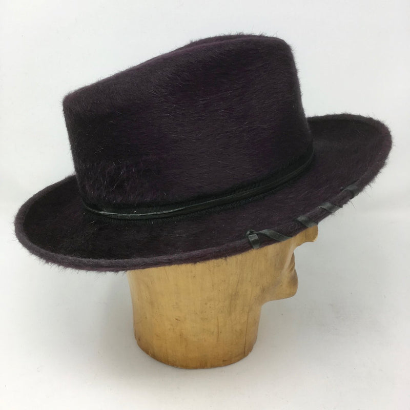 Blake fedora in Eggplant Beaver Finish by Lilliput Hats