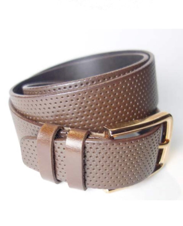 Perforated leather belt by Armoir Style Number LB013