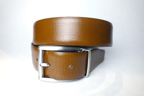 Cognac Vegetable-dyed leather belt by Armoir Style: LB018