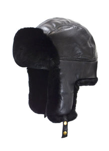 2-97862 Lambskin Leather Aviator/Rabbit Lined by Crown Cap