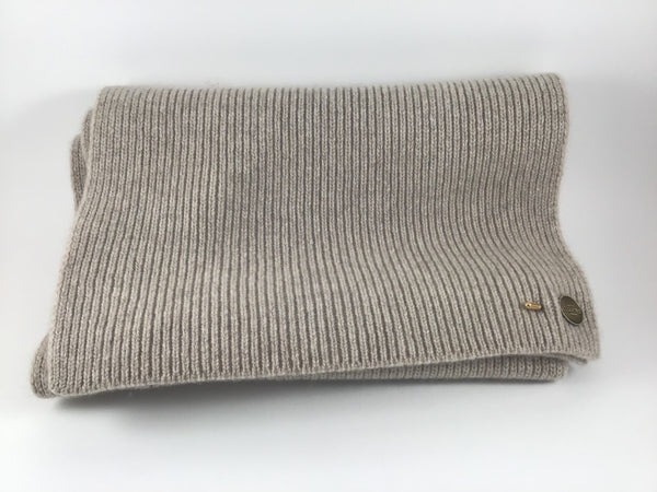 Cashmere Ribbed Scarf by Christys'