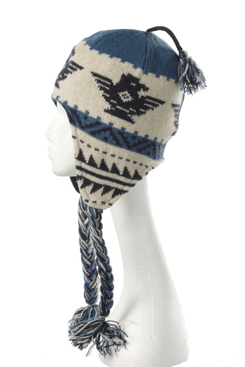 Thunderbird toque with tassels 3-11107 by Crown Cap