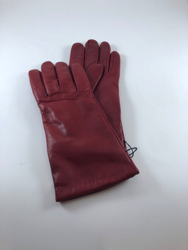 Ruby Italian Leather gloves cashmere lined